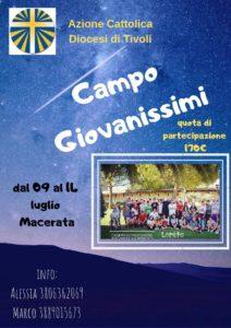 Campo diocesano Giovanissimi 2019 @ Domus S. Giuliano | Loreto | Marche | Italia
