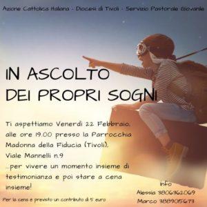 In ascolto dei propri sogni (II° Incontro) @ Parrocchia Madonna della Fiducia | Guidonia | Lazio | Italia
