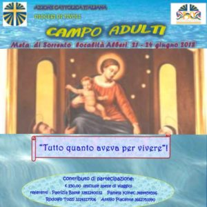 Camposcuola diocesano Adulti @ Meta di Sorrento | Meta | Campania | Italia