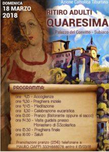 Ritiro Spirituale Quaresima - Settore Adulti AC @ Subiaco | Subiaco | Lazio | Italia